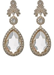 Givenchy Women's Statement Clip On Drop Earrings White