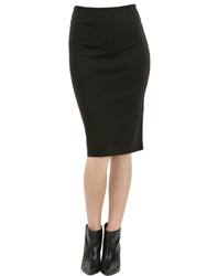 Gentryportofino Stretch Wool Skirt Black