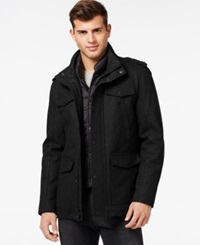 Guess Laminated Jacket With Removable Bib Black