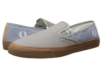 Fred Perry Turner Slip On Canvas Shirting Cloudburst Men's Flat Shoes Gray