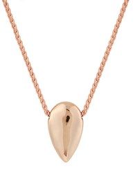Lucky Brand Sun Kissed Moments Semi Precious Rock Crystal Rose Goldtone Tear Drop Necklace