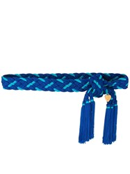 Yves Saint Laurent Vintage Woven Belt Blue
