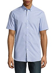 Report Collection Textured Cotton Shirt Blue