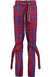 Vivienne Westwood Tartan Wool Tapered Pants