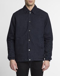 Edwin Blue Denim Padded Coach Jacket