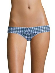 Hanky Panky Check Please Low Rise Lace Thong Navy Blue