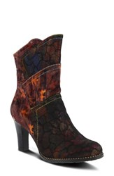 L'artiste Neada Bootie Bordeaux Multi Leather