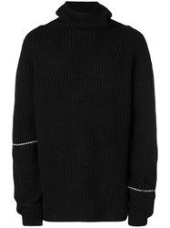 Lost And Found Rooms Ribbed Roll Neck Sweater Black