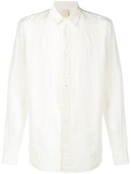 Forme D'expression Long Sleeve Fitted Shirt White