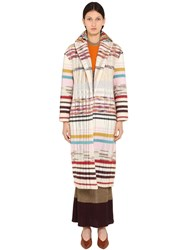 Missoni Wool Blend Knit Coat Multicolor