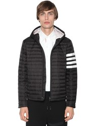 Thom Browne Hooded Nylon Down Jacket Black