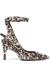 Tom Ford Printed Calf Hair Pumps Off White