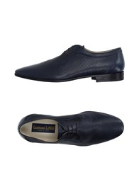 Gianfranco Lattanzi Footwear Lace Up Shoes Men Dark Blue