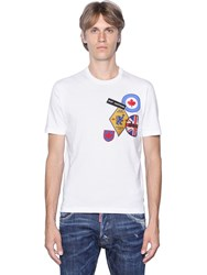 Dsquared Military Glam Patches Cotton T Shirt