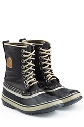 Sorel Waterproof Canvas Rubber Boots Black