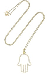 Jennifer Meyer 18 Karat Gold Diamond Hamsa Necklace