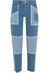 House Of Holland Patchwork High Rise Boyfriend Jeans