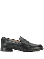 Tod's Ridged Panel Loafers Black
