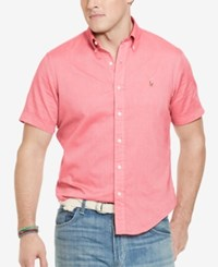 Polo Ralph Lauren Big And Tall Men's Chambray Oxford Shirt Red White