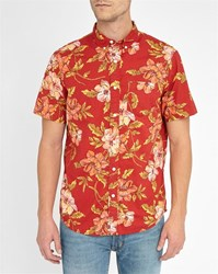 Denim And Supply Ralph Lauren Red Hawaii Short Sleeve Shirt
