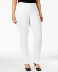 Michael Michael Kors Plus Size Straight Leg Jeans White Wash