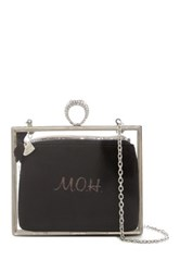 Betsey Johnson Blue In Bow Maid Of Honor Clutch Metallic