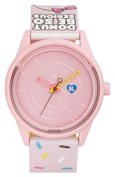 Harajuku Lovers Resin Solar Watch 40Mm Limited Edition Donut Be So Serious