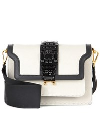 Marni Trunk Canvas And Leather Crossbody Bag White