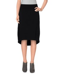European Culture Skirts Knee Length Skirts Women Black