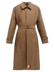 Martine Rose Tartan Lined Oversized Trench Coat Brown