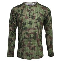 Lords Of Harlech Norbert Henley In Olive Camo Green
