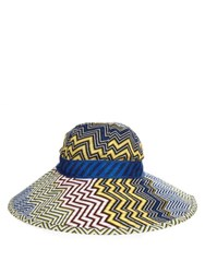 Missoni Mare Chevron Knit Hat Blue