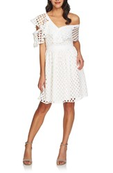 Cece Off The Shoulder Ruffle Dress New Ivory