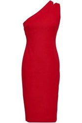 Bailey 44 One Shoulder Cutout Jersey Dress Red