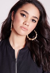 Missguided Chunky Gold Hoop Earrings Gold