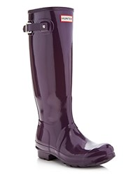 Hunter Original Tall Gloss Rain Boots Purple Urchin