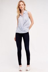 Anthropologie 7 For All Mankind High Rise Skinny Jeans Blue Black River Thames