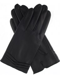 Dents Layered Leather Gloves Black