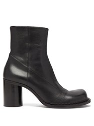 Maison Martin Margiela Exaggerated Toe Leather Boots Black