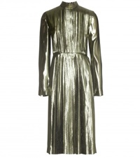 Loewe Metallic Silk Blend Pleated Dress