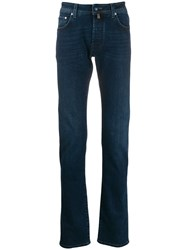 Jacob Cohen Five Pocket Denim Effect Trousers Blue