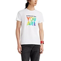 Barneys New York Be Proud Cotton T Shirt White