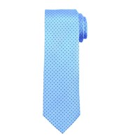 John Lewis Mini Dash Silk Tie Light Blue