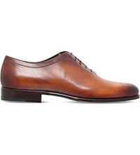 Stemar Hand Painted Leather Oxford Shoes Tan