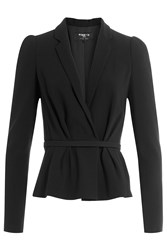 Paule Ka Belted Jacket Black