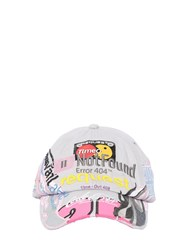 Vetements Branded Embroidery Cotton Baseball Hat Grey