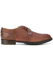 Brimarts Woven Oxford Shoes Brown