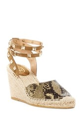 Ash Winona Studded Espadrille Wedge Sandal Brown