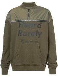 Mostly Heard Rarely Seen Panelled Sweatshirt Cotton Polyester S Green