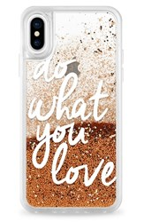 Casetify Do What You Love Iphone X Case White White And Gold